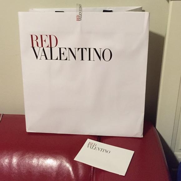 Red Valentino paper bag 7de6f434d89