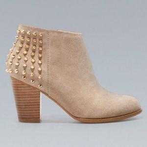 Zara taupe studded booties