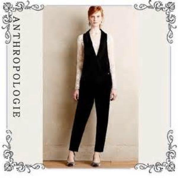 256b2db8d178 Anthropologie Other - Anthropologie Harlyn Velvet Tuxedo Jumpsuit NWOT