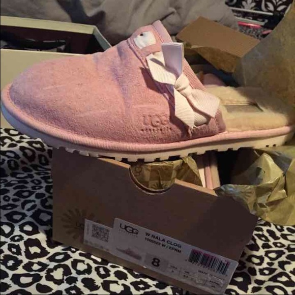46 Off Ugg Shoes Ugg Slide On Baby Pink From Suzie S