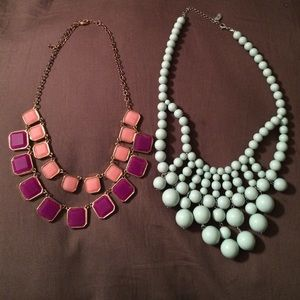 Set of two boutique necklaces