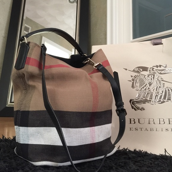 72a0c49d4bece7 Burberry Handbags - Burberry medium check print bucket bag