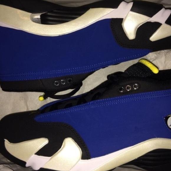 e97e6a9e0c409f Jordan Og Xiv 14 Low Blue Black Yellow Laney