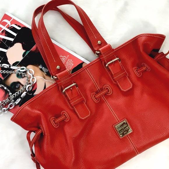 d6d7e6641c Dooney   Bourke Handbags - Dooney   Bourke Large Red Leather Satchel
