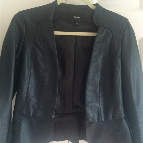 72 off target jackets blazers black faux leather coat for Mercedes benz leather jacket