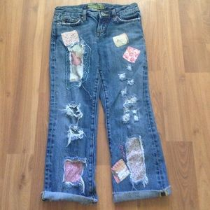 Patchwork miss me jeans
