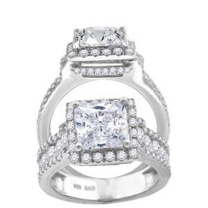 Stunning Engagement Ring Sterling Silver 925 & CZ