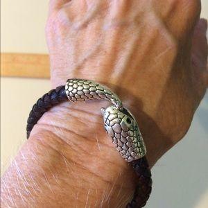 Jewelry - Leather snake bracelet