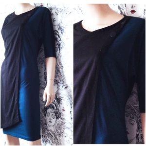 FLASH SALE! Wool Knit Drape Dress