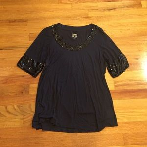 Dream society top size large (grey/black)