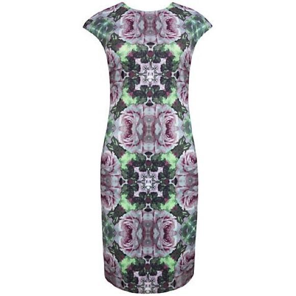 16fc53c50e116 Ted Baker Crochet Rose Print Midi Dress