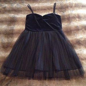 H&M Velvet and Tulle Black Dress