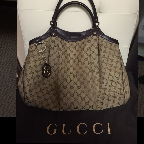 a4cad2dd35d Gucci Handbags - Authentic Pre-Owned Gucci Large Sukey Tote