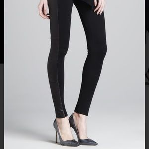 Alice + Olivia ponte and leather legging