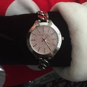 Michael Kors 3357 chain link w/crystal face watch