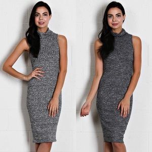 Dresses & Skirts - Ribbed knit turtle neck dress