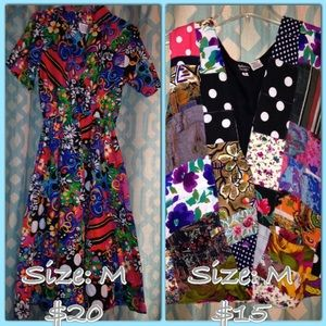 Size medium multi color vintage dress and vest.