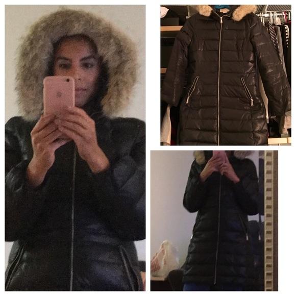 f57199570742e michael michael kors hooded faux fur trim down puffer coat sale ...