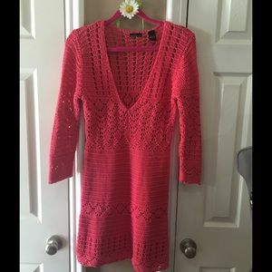 GORGEOUS RED KNIT DRESS
