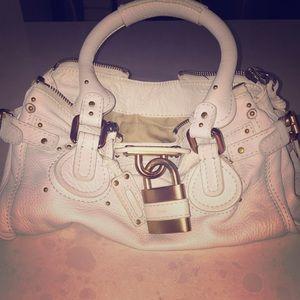 81% off Chloe Handbags - Like NEW Chloe white leather paddington ...