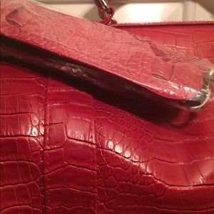 Red leather duffle bags. 2 Brand new.