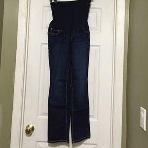 Blue jean pants maternity