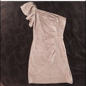 Hailey Logan Dresses & Skirts - Silver one shoulder dress