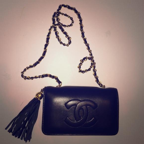 CHANEL Handbags - CHANEL VINTAGE 80s MINI TASEL SHOULDER BAG 0cc227aa5984b