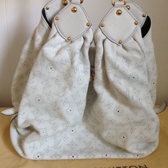 b7b4ec847ba Louis Vuitton Bags   Xl Mahina Leather Handbag Hobo Bag   Poshmark