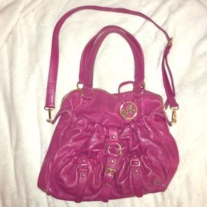 Raspberry Michael Kors Shoulder Bag with Crossbody