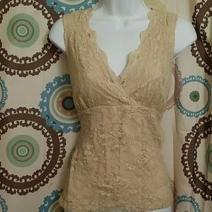 Tops - Gorgeous gold and cream camisole
