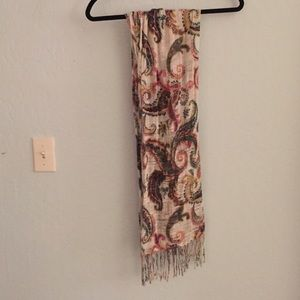 Pastel paisley multi colored scarf