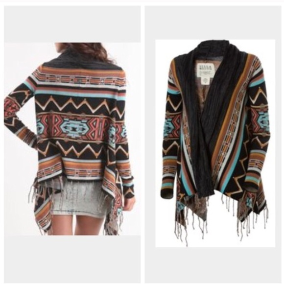 c6b5b296d Billabong Sweaters - Billabong tribal print cardigan sweater
