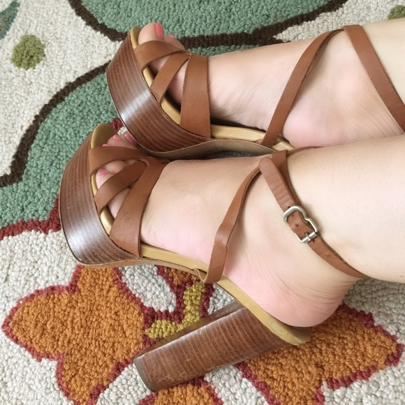 e34a2b33dbb See by Chloe wooden stacked heel leather sandals. M 561f40c451e9ea61990036ee