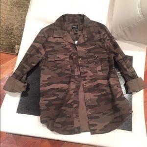 Camo jacket top