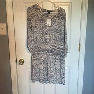 H&M grey patterned dress
