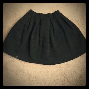 Black scuba/ elastic skirt. Bubble skirt/ skater