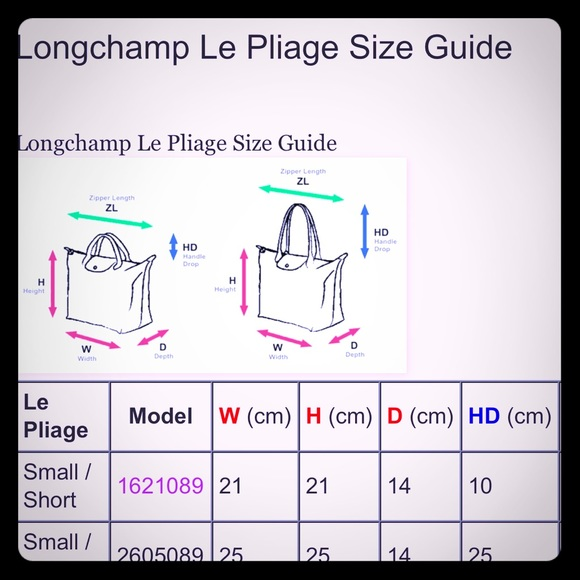 Longchamp Long Champ Guide To Measure From Dianna S Closet On Poshmark