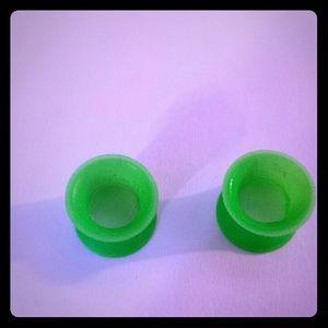 Kaos Jewelry - Kaos Softwear Silicone Neon Green Tunnels