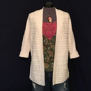 Talbots Cream Colored Long Cardigan