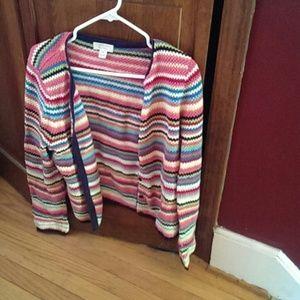 Medium striped cardigan.