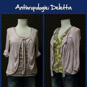 "Anthro ""Cake Batter Cardigan"" by Deletta"