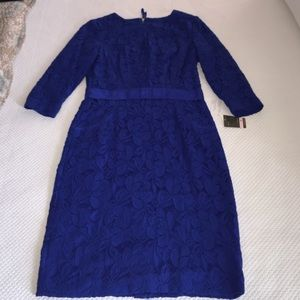 Taylor Dresses & Skirts - Taylor Blue Lace Dress Bow Belted Size 6