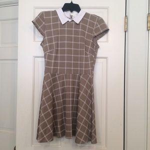Collared plaid dress