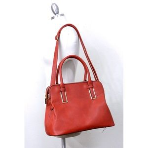 Handbags - Double zipper top satchel