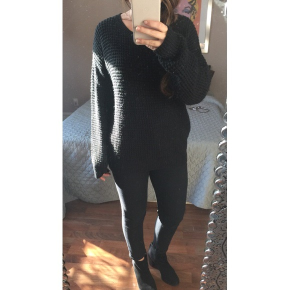 Forever 21 - Oversized black knit sweater from Milan's closet on ...