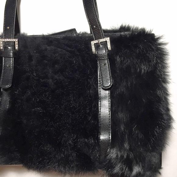 a484afcc9d0d Latina Life Handbags - FINAL Black Faux Fur Bag