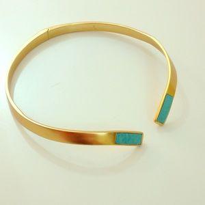 Pamela Love Gold & Turquoise Necklace
