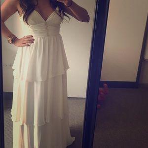 Aqua Dresses & Skirts - ✨SALE!✨White Chiffon Evening Gown