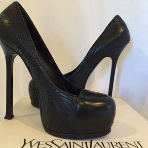 Yves Saint Laurent Shoes - YSL LIMITED EDITION Laser Stitched Nappa Nero 39/9